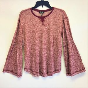 Brand New Ionna Bell-Sleeve Thermal Top